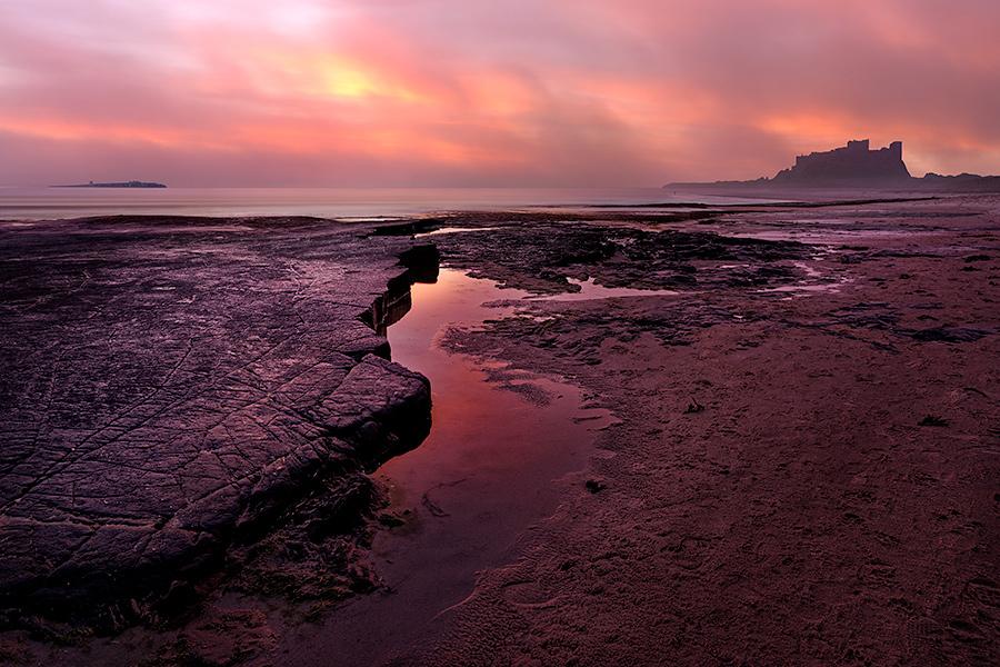 IMAGE REF: #001Bamburgh Sunrise, Northumberland Coast